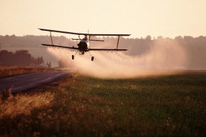 Pesticide field spraying