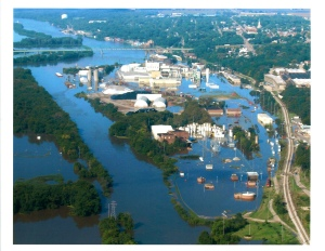 Flooded LaSalle IL wastewater plant