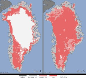 Greenland ice melt figure
