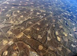 fracking aerial