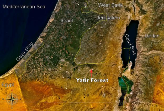 800px-Yatir_Forest,_Israel_-_Location